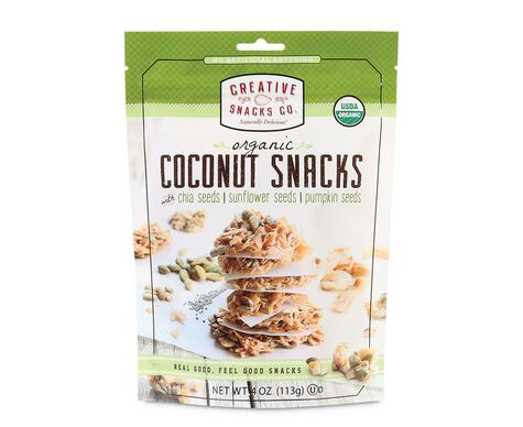 Organic Coconut Snacks with Chia Seeds, Sunflower Seeds, & Pumpkin Seeds