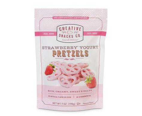 Strawberry Yogurt Pretzels